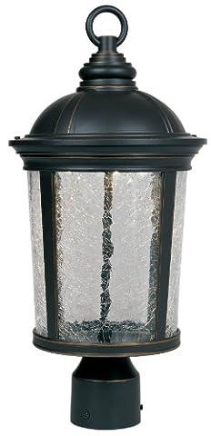 Designers Plume Led21346-abp Winston–22,9cm LED Post Lanterne, finition Bronze patiné vieilli Jardin, Pelouse, d'approvisionnement,