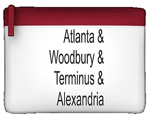 Preisvergleich Produktbild Atlanta Woodbury Terminus und Alexandria Orten Parodie Liste Statement Zombie Federmäppchen flach Reißverschluss farbenfroher Stationäre Halter Einheitsgröße rot