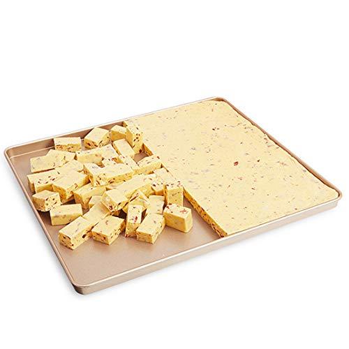 Candeal 12 pollice teglia da forno universale rettangolare antiaderente in acciaio al carbonio - per pane pizza torte biscotti - non tossico e antiaderente facile da pulire e lavabile in lavastoviglie