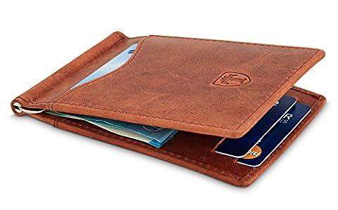 TRAVANDO ® Portefeuille RFID en Cuir Véritable et avec Pince à Billets
