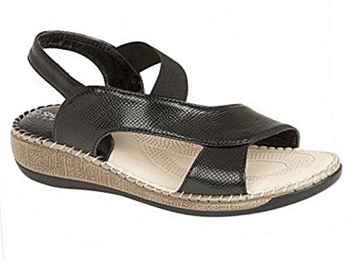 Foster Footwear, Sandali donna (Cuba:Black)