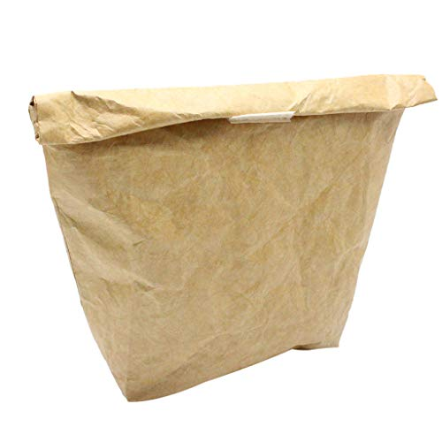MA87 Lunchtasche aus Papier, wiederverwendbar, robust, isoliert, Thermo-Papier, Lunchbox mit Al braun