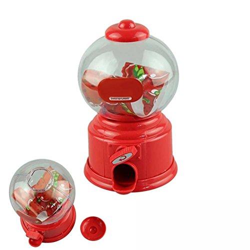 (QUINTRA Klassische Vintage Doppel Kaugummi Maschine Bank Candy Dispenser Gumball Spielzeug (Rot))