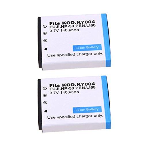 TOOGOO 2X Vollst?ndig Entschlüsselte Batterie Für Fuji Np-50 Np-50A Fuji F300Exr F600Exr F75Exr F70Exr -