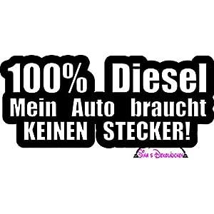 """""""100% Diesel Mein Auto braucht keinen Stecker"""" Auto oder LKW Aufkleber/Sticker"""