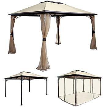 pavillon rivoli mit seitenteilen 3x4 meter dach und seitenteile ecru. Black Bedroom Furniture Sets. Home Design Ideas