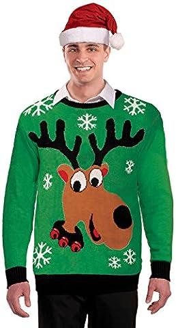 Forum Novelties, Inc Unisex-adult Adult Reindeer Ugly Sweater