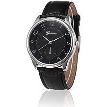 Xinantime Reloje Hombre,Xinan Banda Cuero De PU Reloj Cuarzo de Aleación Analógica (Negro