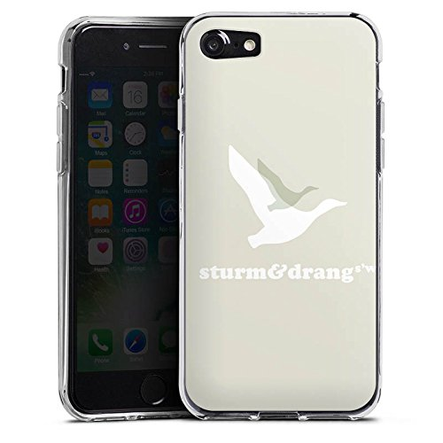 Apple iPhone X Silikon Hülle Case Schutzhülle Vogel Fliegen Sturm & Drang Silikon Case transparent