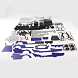 Oyamihin SW (RC) -002 518 stücke 1/16 Edelstahl Fernbedienung DIY Montage RC LKW Auto Bausteine Modell für Kinder Geschenk - Blau