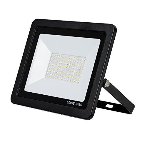 LED Strahler, LED Fluter, SLIM 100 Watt Warmweiss LED Flutlicht, 100W 7000 Lumen Ersetzt 800 Watt, 220-240V, LumenTEC (100W NEUTRALWEISS)