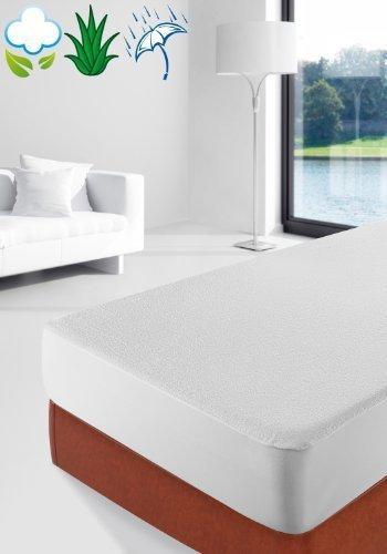 Savel-Proteggi-Materasso-in-spugna-100-cotone-impermeabile-con-trattamento-allaloe-vera-Singolo-90x190200cm