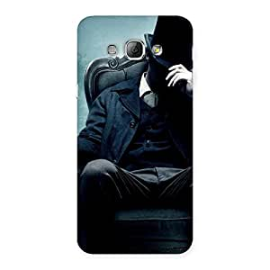 Cute Sitting Hat Man Back Case Cover for Galaxy A8