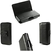 DFV mobile - Belt cover premium executive synthetic leather horizontal design and clip metal for > hisense u966, color funda negro
