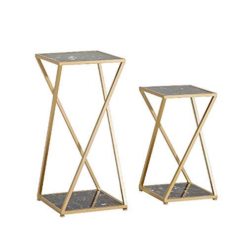 Tische MEIDUO Beistelltisch, Beistelltische Ausstellungsstand-Schachteltisch Faux Marmor für Wohnzimmer Schlafzimmer Sofa, 2er Set Computertisch...