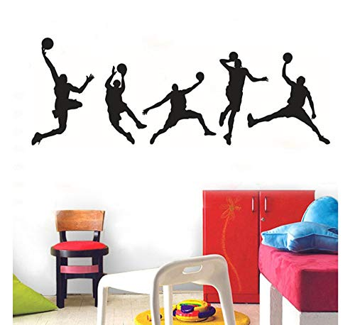 Wall stickers adesivo murale adesivi murali 3d adesivi murali personalizzati sport basket camera da letto per ragazzi soggiorno adesivi decorativi adesivi murali removibili adesivi da parete removibil