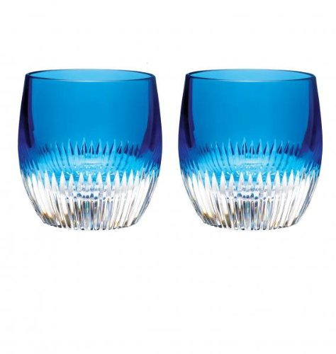 Waterford Crystal Mixology Argon Blue Tumbler, Set of 2 by Waterford Waterford Tumbler Set