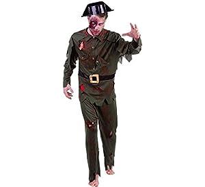 Rubies- Disfraz de guardia civil Zombie para adulto, Talla única (Rubie