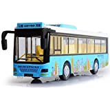 Shreeji Die Cast Metal Body Door Opening Luxury Happy Shopping Toy Bus With LED Light And Sound For Kids