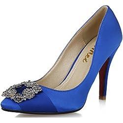 SEXYHER Fashion Satin Diamant Haken 2,8 Zoll High Heel Office Of Damenschuhe - SHOMQ968-88-2.8