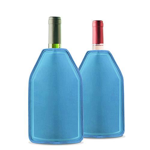 Nuestro enfriador de gel de vino es muy fácil de usar, simplemente déjelo en el congelador durante un par de horas para activarlo antes de su evento. ¡Colóquelo sobre la botella cuando esté listo para servir y se mantiene fresco por varias horas! Ide...