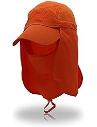Gr Outdoor Brand Removable Faltbare Tragbare Wasserdichte Fischer Hut Angeln Wandern Eimer Hüte Für Männer Frauen (Color : Orange)