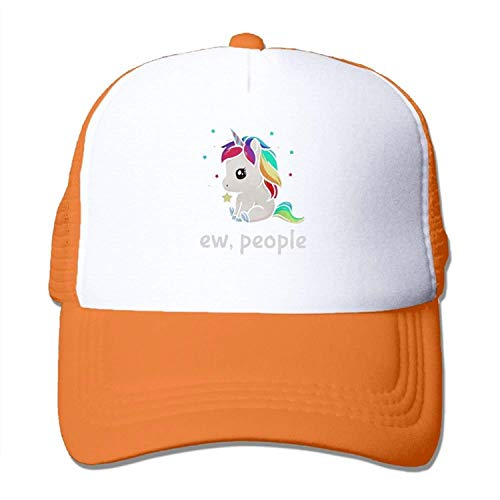 UUOnly Ew People Unicorn Mesh Baseballmütze Erwachsene Einstellbare Sonnenhut für Männer, Frauen