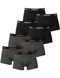 HEAD Herren Boxer Boxershort Unterhose 8er Pack (4x Schwarz / 4x Dark Shadow, M)