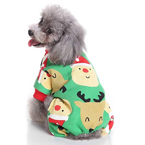 Für Skelett Hunde Kostüm - Eyxia-Pet-Master Hundekostüm Dinosaurier Kostüme Skelett Hoodies for kleine Hunde Kleidung Halloween Day Party Skull (Color : Grün, Size : XL)