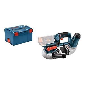 Bosch Professional GCB 18V-LI Sierra de cinta, sin batería, en L-BOXX, 18 V, Negro, Azul, Rojo, Plata