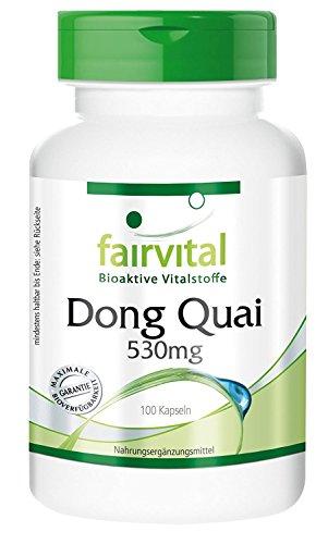 Dong Quai 530mg - VEGANO - Altamente dosificado - 100 cápsulas Angelica sinensis - ¡Calidad Alemana garantizada!