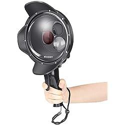 SHOOT Dome Port pour GoPro Caméra Accessoires, Dôme Plongée avec Rouge Filtre et Loupe pour GoPro HERO7 Black/ HERO6/ HERO5 Black/Hero 2018 Photographie sous-Marine(SHOOT Officiel)