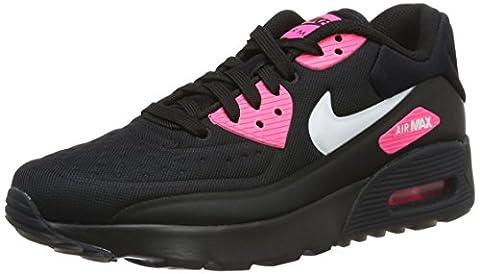 Nike Mädchen Air Max 90 Ultra Se (Gs) Laufschuhe, Black (Schwarz / Weiß-Hyper Pink), 36.5 EU