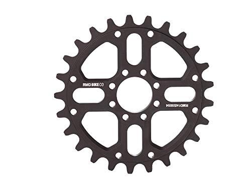 RMD BIKE CO. Unisex– Erwachsene 22&2 kettenblatt BMX MTB Dirt 23T 25T 28T Schwarz Rot, Black
