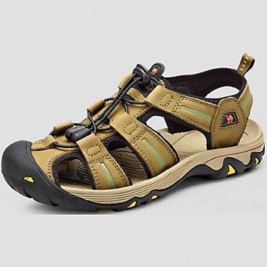 Camel hommes sandales chaussures de plage en plein air Chaussures en cuir de vache Wearproof Couleur BRUN/vert Green