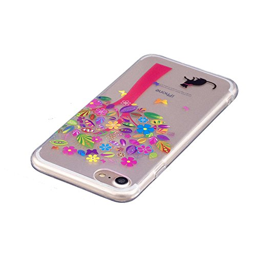 Coque iPhone 7, MSK® Coque Housse Etui Silicone Soft Clear TPU Case Cover Souple de Protection Coque Mince Léger Etui Flexible Lisse Couverture Anti Rayure Anti Choc Bumper Pour iPhone 7 - Donuts Manglier