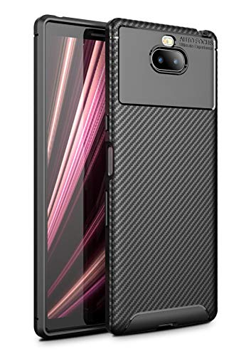 Case Collection Carbonfaser Design Hülle für Sony Xperia 10 Plus Hülle (6,5