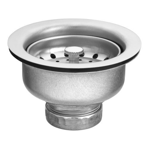 Moen Drain Assembly (Moen 22037 3-1/2-Inch Drop-In Basket Strainer with Drain Assembly,Satin by Moen)