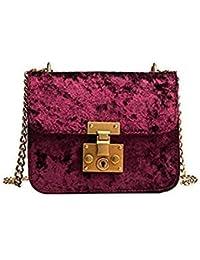 ded8ac3e4a Crossbody Bag Luxury Velour Women Handbags Purse Designer Brand Ladies  Chain Velvet 4 Colors Shoulder Messenger