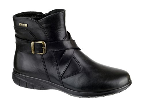 Cotswold Ladies Shipton Leather Zip Fastening Ankle Boot Black Black
