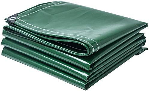 MWPO Plane in verschiedenen Größen wasserdichte und reißfeste PVC-Schutzhülle für Gartenmöbel, Holz, Pool, Auto-Plane mit Ösen Grün Gewicht 400 g/l, 4 mx 5 m