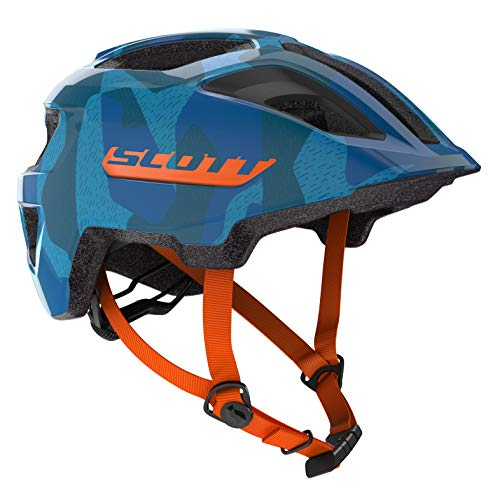 Scott Spunto JR Kinder Fahrrad Helm Gr. 50-56cm blau/orange 2019