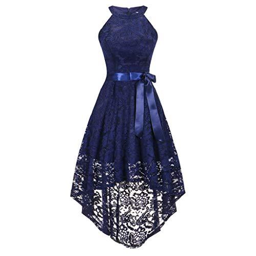 Vicgrey ❤ vestito donna in pizzo senza manica scollo rotondo elegante vintage cerimonia vestiti cocktail abito da sera abiti da matrimonio molti colori, vestito elegante