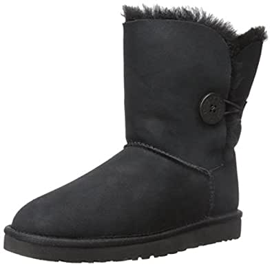 Ugg Australia Bailey Button Girls' Boots, Black (Black), 4 UK