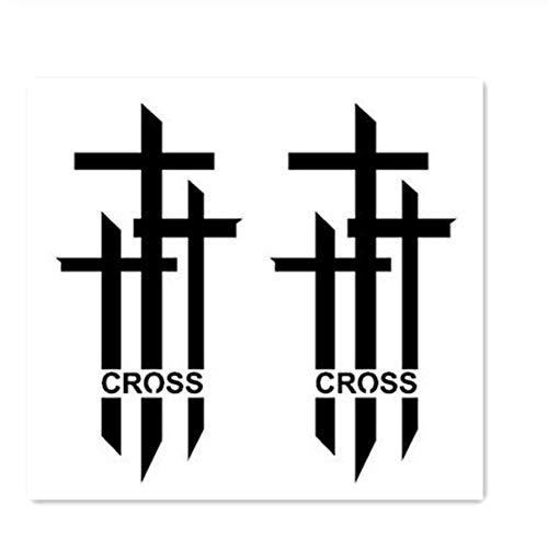 t Temporäre Gefälschte Tätowierung Aufkleber Cool Black Cross Englisch Buchstaben Einzigartiges Design Body Art Bilden Werkzeuge ()