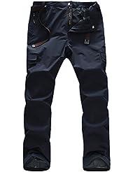 Zhuhaitf Moda Men's Soft Shell Multi-pocket Work Pants Waterproof Climbing Outdoor Sport Trousers
