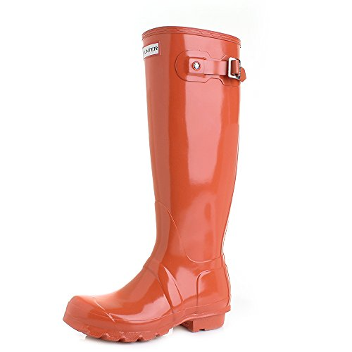 Hunter Original Tall Gloss Femme Boots Orange Orange