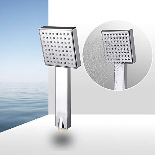 KangHS Handbrause/Wassersparende quadratische Duschkopf-ABS-Plastikhandgriff-Bad-Duschbad-Zusätze