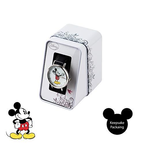 41Vib5raOpL - Disney Reloj Análogo clásico para Unisex de Cuarzo con Correa en Cuero MK1315