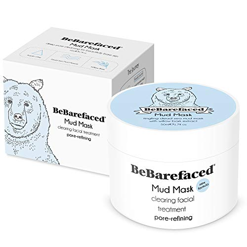 BeBarefaced Dead Sea Mud Face Mask - Facial Anti Ageing Blackhead & Acne  Treatment For All Skin Types - Naturally Experience The Best Skin Possible  by
